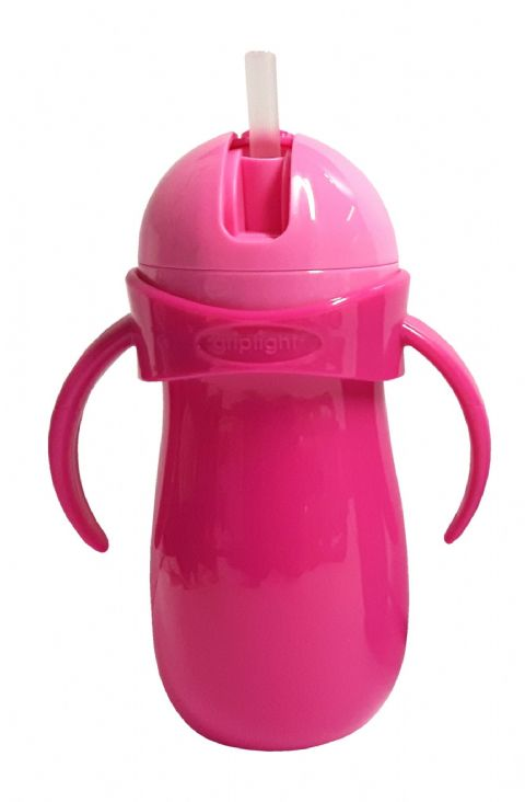 Griptight - Handled Straw Sipper - Pink